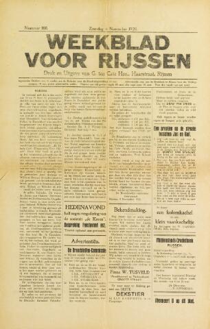 Weekblad voor Rijssen 1920-11-06