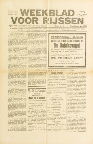 Weekblad voor Rijssen 1939-08-19