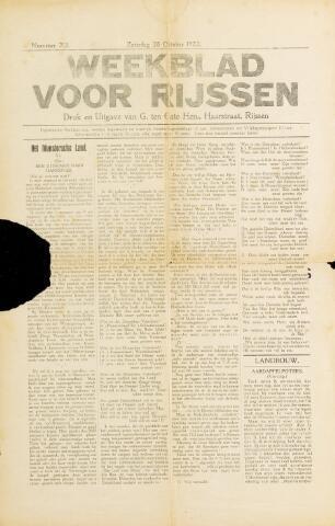Weekblad voor Rijssen 1922-10-28