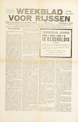 Weekblad voor Rijssen 1938-11-05