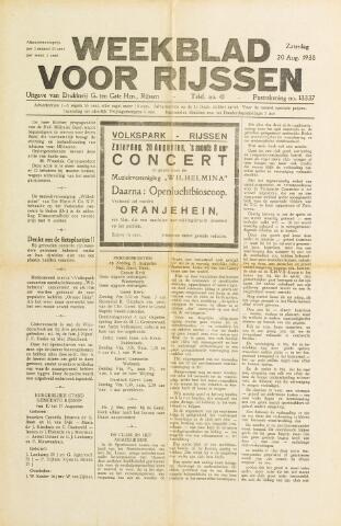Weekblad voor Rijssen 1938-08-20