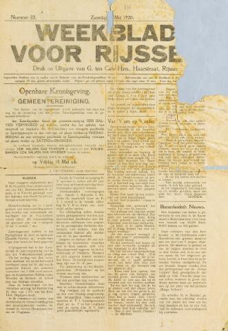 Weekblad voor Rijssen 1920-05-08