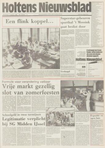 Holtens Nieuwsblad 1986-08-21