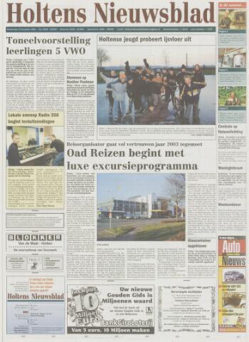 Holtens Nieuwsblad 2002-12-12