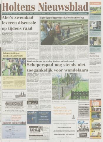 Holtens Nieuwsblad 2002-04-25