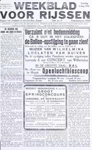 Weekblad voor Rijssen 1936-08-08