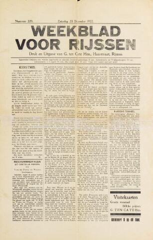 Weekblad voor Rijssen 1922-12-23