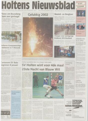 Holtens Nieuwsblad 2002-01-03