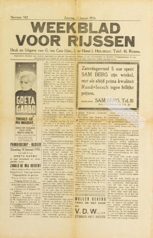 Weekblad voor Rijssen 1934-01-13