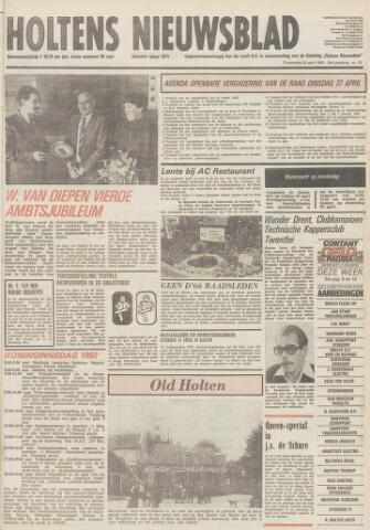 Holtens Nieuwsblad 1982-04-22