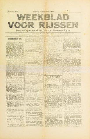 Weekblad voor Rijssen 1922-09-23