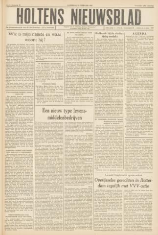 Holtens Nieuwsblad 1958-02-22