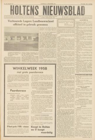 Holtens Nieuwsblad 1958-12-06