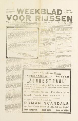 Weekblad voor Rijssen 1935-08-10