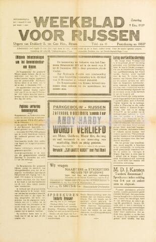 Weekblad voor Rijssen 1939-12-09