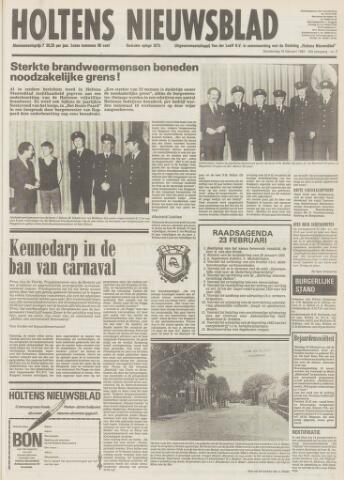 Holtens Nieuwsblad 1982-02-18