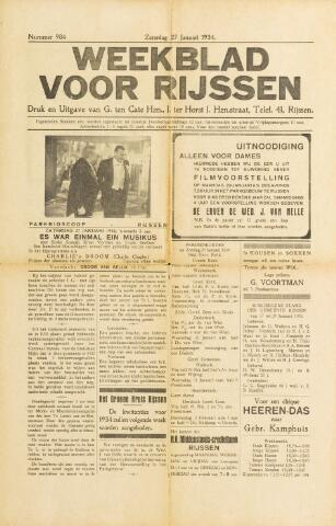 Weekblad voor Rijssen 1934-01-27