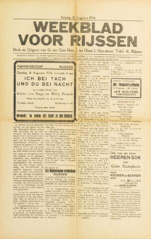 Weekblad voor Rijssen 1934-08-18