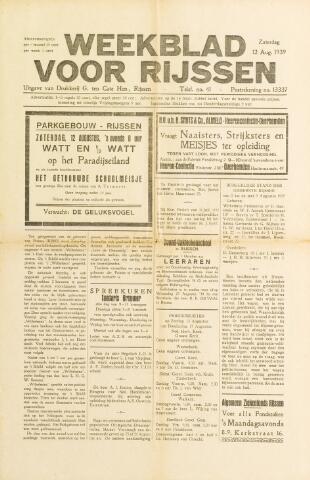 Weekblad voor Rijssen 1939-08-12