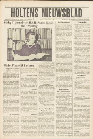 Holtens Nieuwsblad 1965-01-30