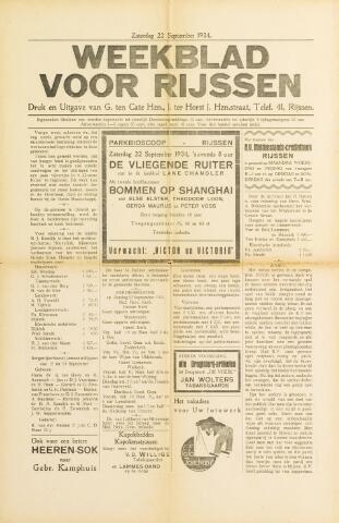 Weekblad voor Rijssen 1934-09-22