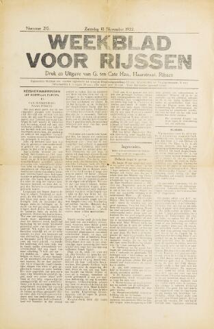Weekblad voor Rijssen 1922-11-18