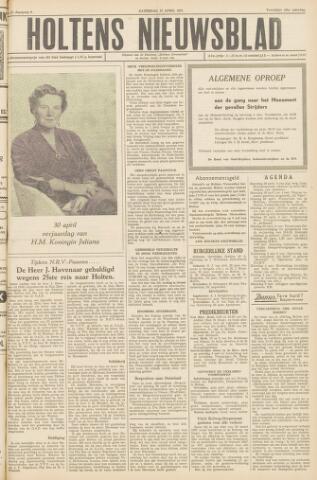 Holtens Nieuwsblad 1957-04-27
