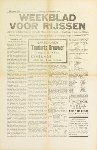 Weekblad voor Rijssen 1930-09-06