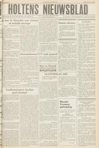 Holtens Nieuwsblad 1957-03-02