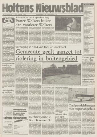 Holtens Nieuwsblad 1993-10-14