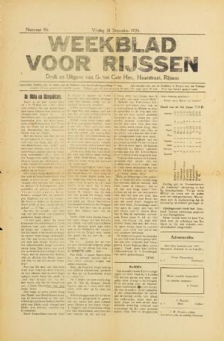 Weekblad voor Rijssen 1920-12-31