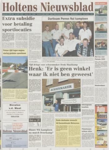 Holtens Nieuwsblad 2002-04-11