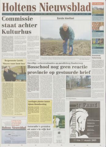 Holtens Nieuwsblad 2003-03-20
