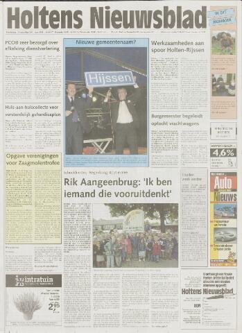 Holtens Nieuwsblad 2001-09-13