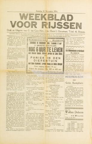 Weekblad voor Rijssen 1934-11-10