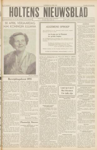 Holtens Nieuwsblad 1955-04-30