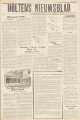 Holtens Nieuwsblad 1961-11-04