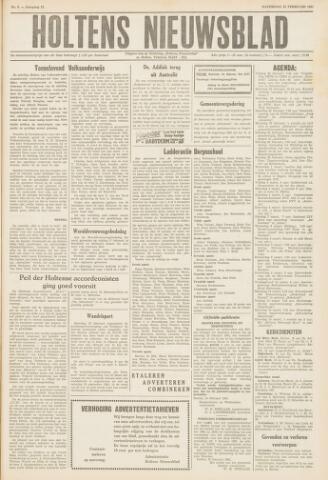 Holtens Nieuwsblad 1961-02-25