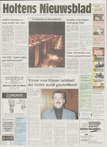 Holtens Nieuwsblad 2001-12-20