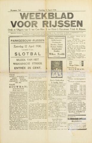 Weekblad voor Rijssen 1930-04-12