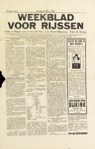 Weekblad voor Rijssen 1927-03-12