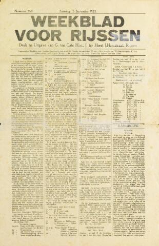 Weekblad voor Rijssen 1923-09-15