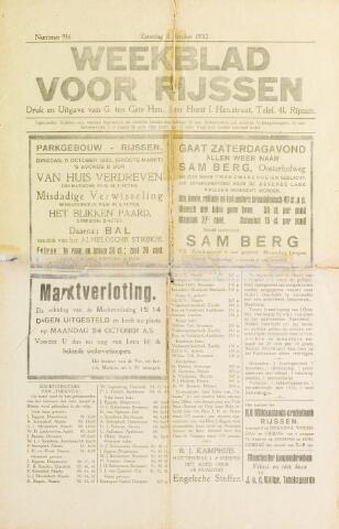 Weekblad voor Rijssen 1932-10-08