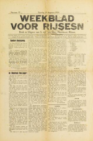 Weekblad voor Rijssen 1920-08-21