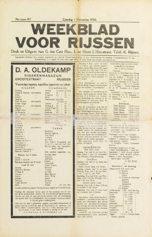 Weekblad voor Rijssen 1930-11-01
