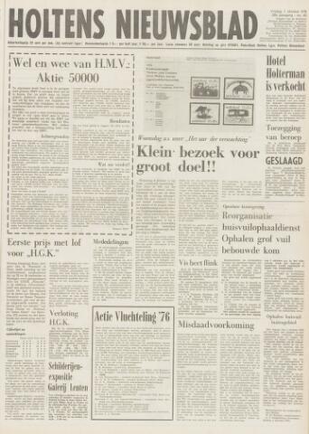 Holtens Nieuwsblad 1976-10-01