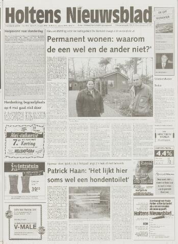 Holtens Nieuwsblad 2001-04-26
