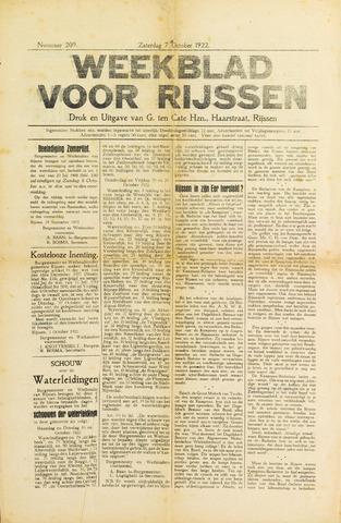 Weekblad voor Rijssen 1922-10-07