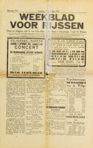 Weekblad voor Rijssen 1933-09-09