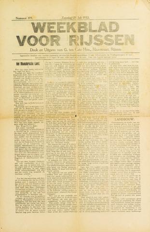 Weekblad voor Rijssen 1922-07-29